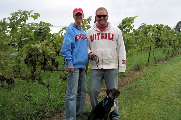 Walking in the vineyard!