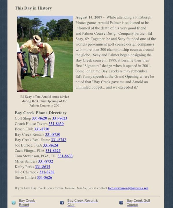 Golf Newsletter 5